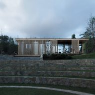 Reception building for Mountain and Cloud Cabins by Wiki World and Advanced Architecture Lab