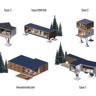 Plans for Mountain and Cloud Cabins by Wiki World and Advanced Architecture Lab