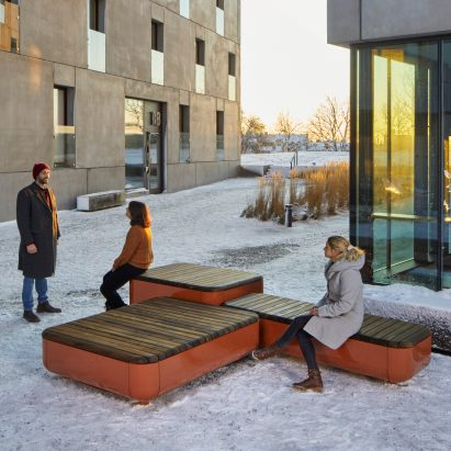 The Stones modular bench system by Vestre