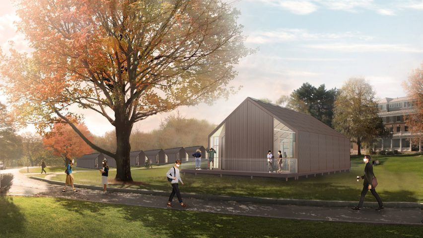 Modular School/House pop-up classrooms for coronavirus by SOM