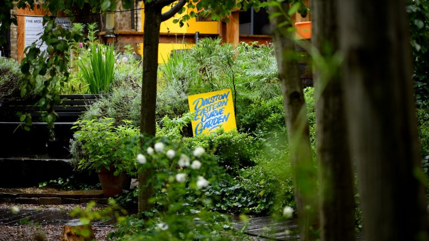 Stills from Open House London's Dalston Curve Garden short film