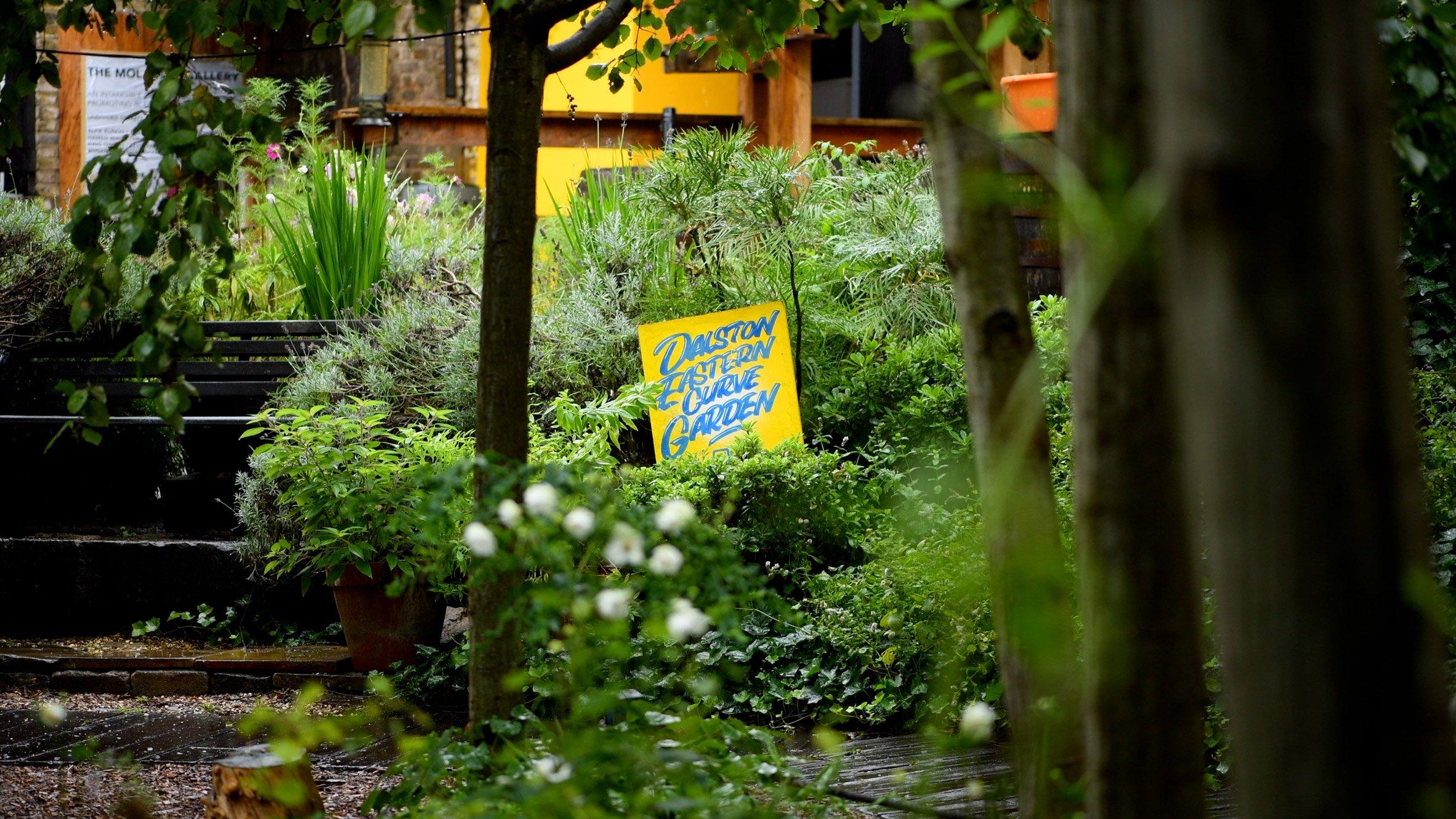 Stills from Open House London's Dalston Curve Garden short film