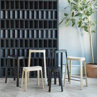 Daniel Schofield designs pinewood Crofton Stool that nods to Asian design traditions