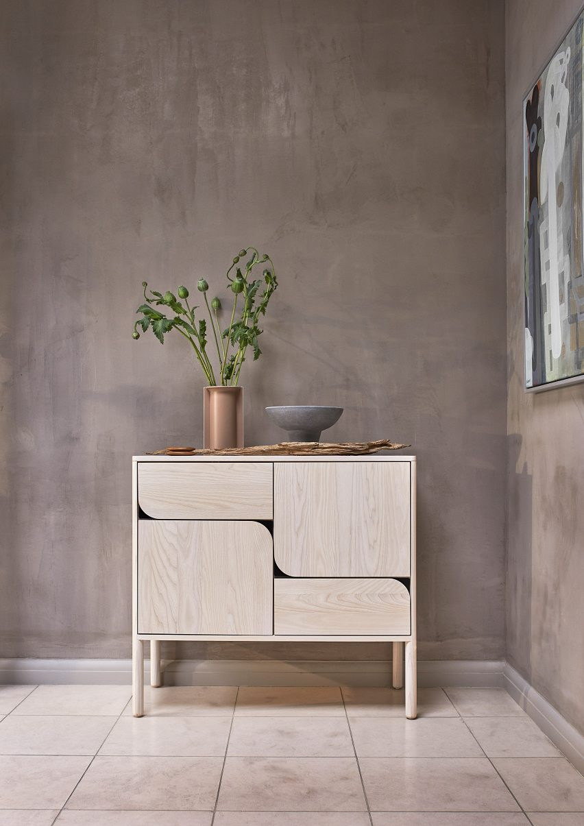 Ercol's wooden Verso High sideboard