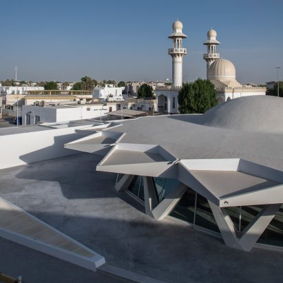 Brutalist Flying Saucer in Sharjah by SpaceContinuum Design Studio for Sharjah Art Foundation