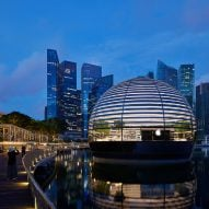 The spherical Apple Marina Bay Sands features in today's Dezeen Weekly newsletter