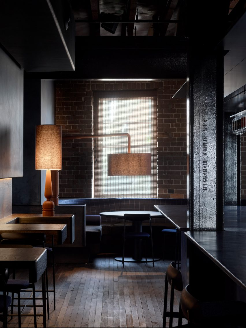 Four Pillars Laboratory has blackened walls