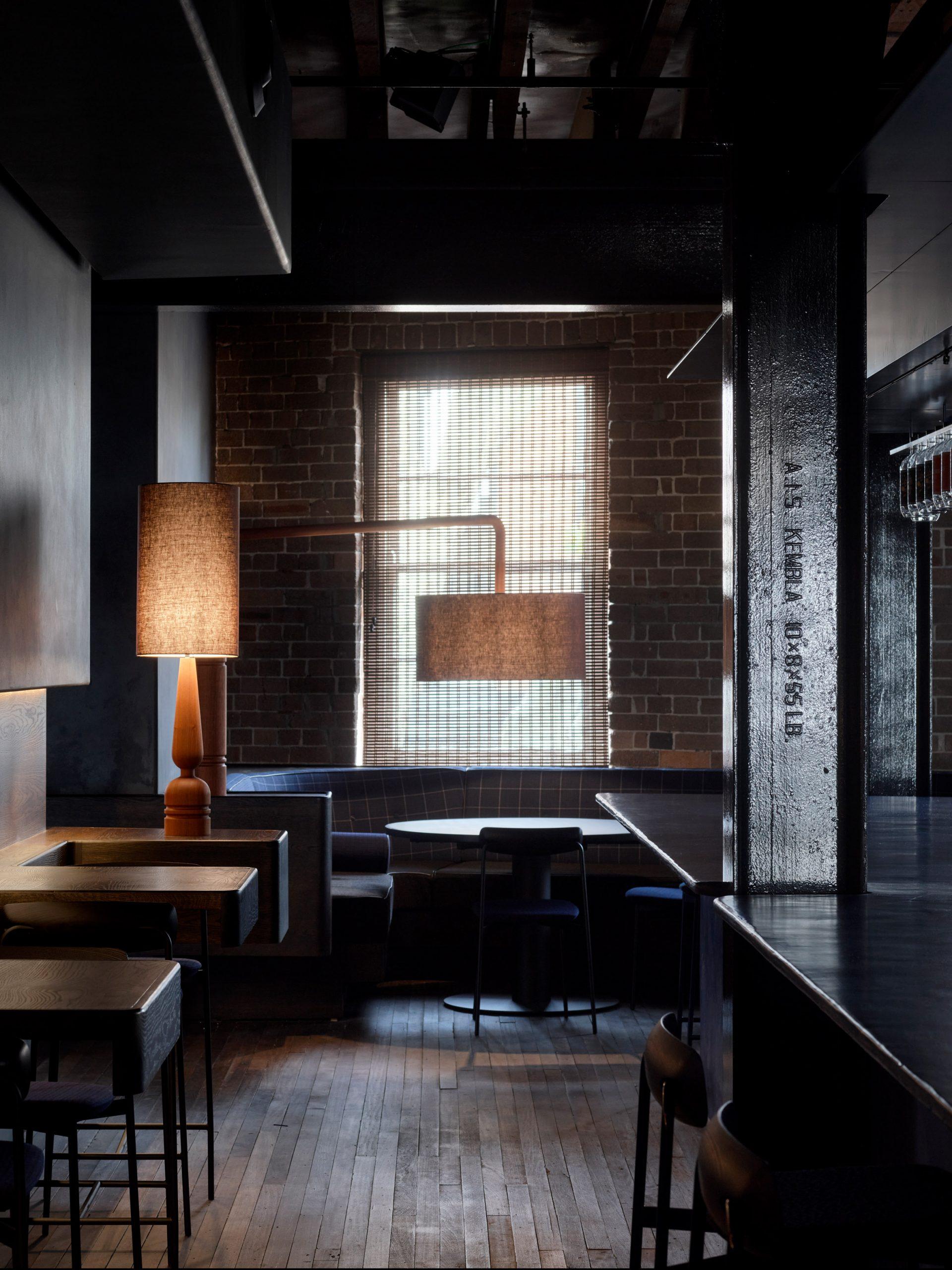 Four Pillars Laboratory has blackened walls
