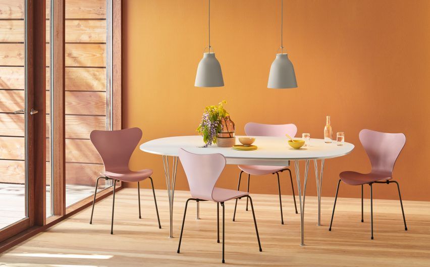 Fritz Hansen launches Series 7, Ant and Grand Prix chair designs by Arne Jacobsen in 16 new colours