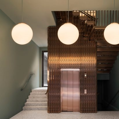 Bureau de Change inserts bronze lift into The Gaslight building in London