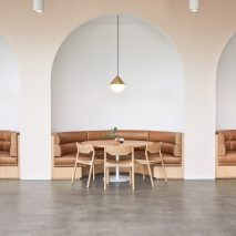 Arched seating niches feature in Goop headquarters designed by Rapt Studio