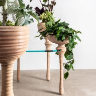 Heatherwick Studio unveils modular desk with wooden planter legs