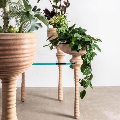Heatherwick Studio design Stem desk system for Connected installation at Design Museum as part of London Design Festival