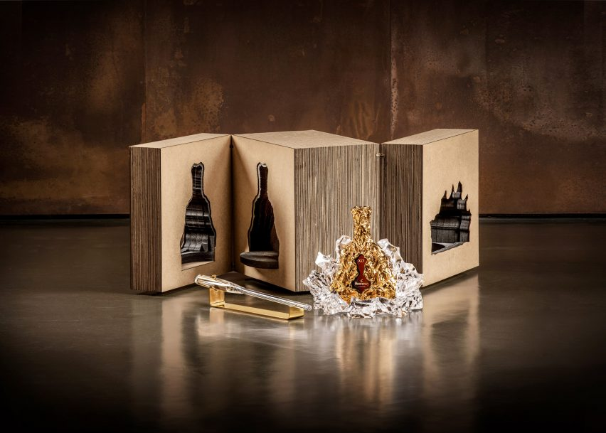 150th anniversaryHennessy XO cognac bottle by Frank Gehry