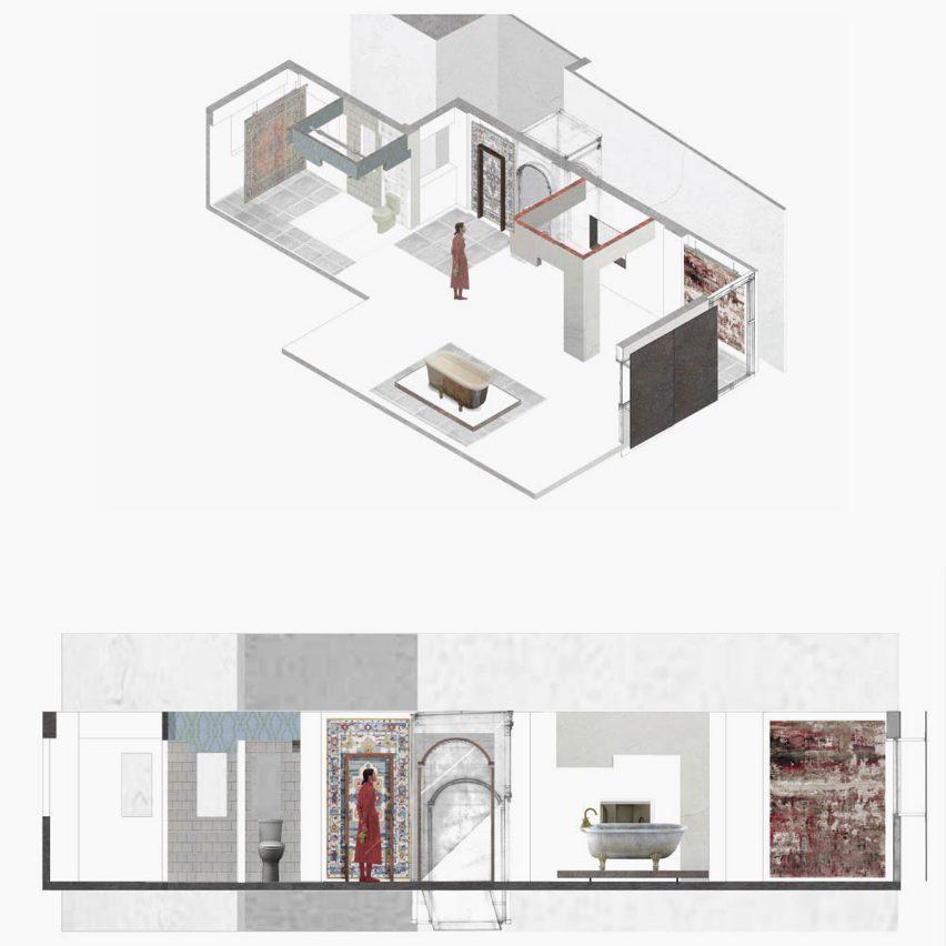 Enfilades Through Time by Ka Siu Lam for PolyU Design school show