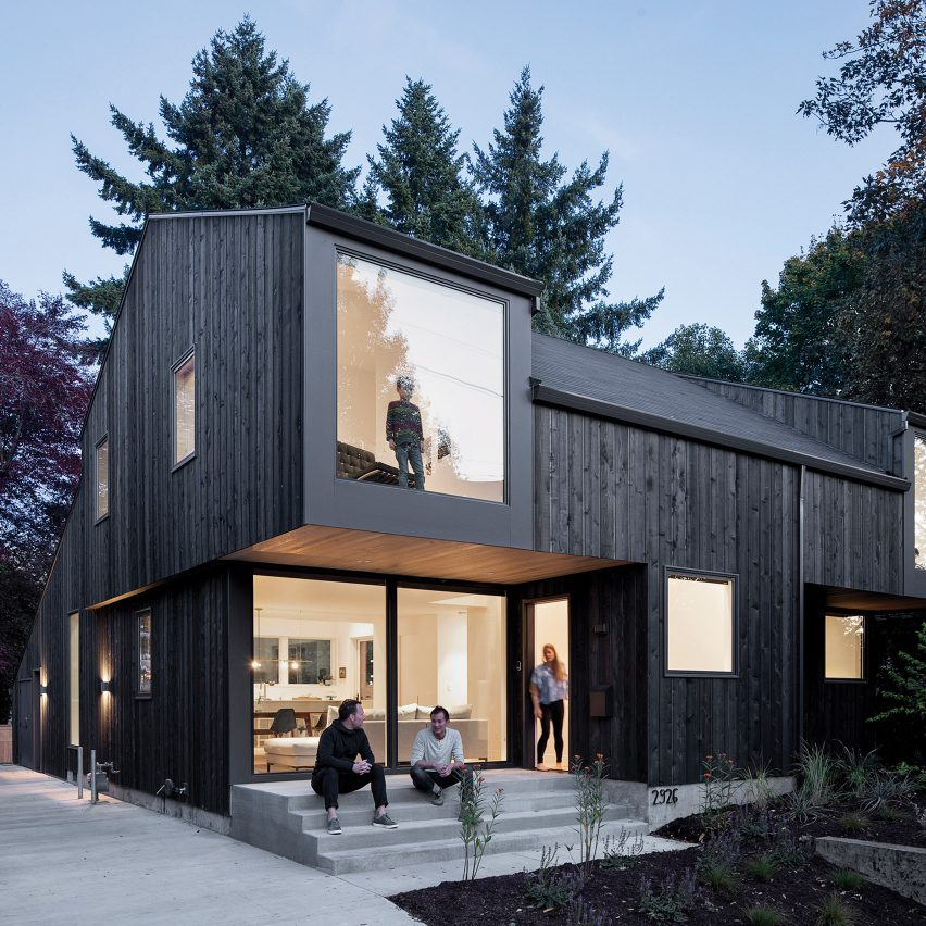 Large windows and cantilevers animate House on 36th by Beebe Skidmore