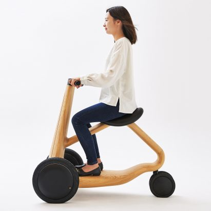 Mikiya Kobayashi designs electric ILY-Ai scooter made from wood