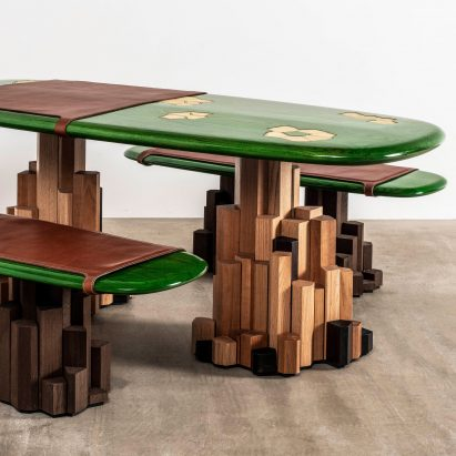 Ini Archibong designs rock-like Kadamba Gate furniture with its own drainage system