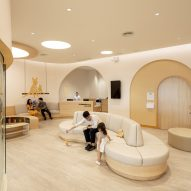 Waiting room in children's hospital designed by Integrated Field
