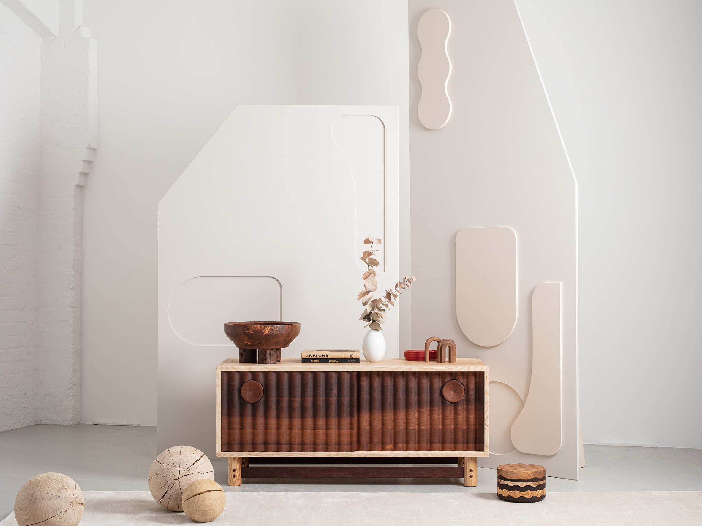 The media unit from Jan Hendzel Studio's collection made using British hardwood