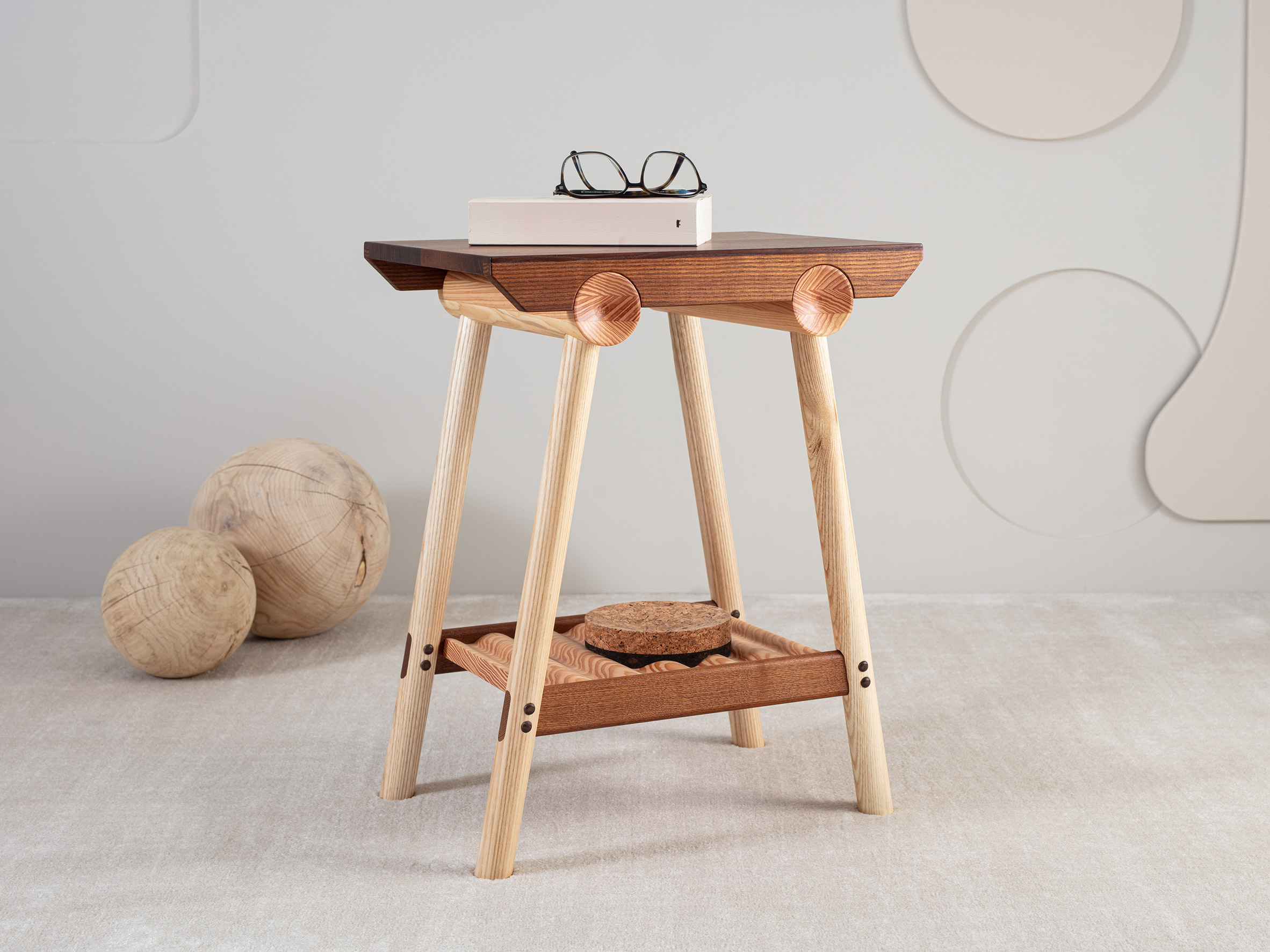 The side table from Jan Hendzel Studio's collection made using British hardwood
