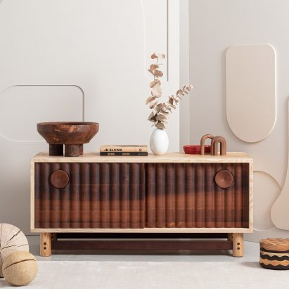 The sideboard from the Jan Hendzel Studio Bowater collection made using British hardwood