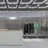 Linehouse uses typically urban materials inside Xiamen's JNBY store