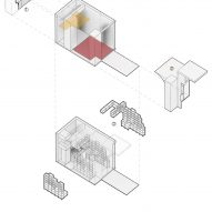 Plans for Joys micro cafe in Shenzhen by Onexn Architects