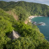 Kasiiya Papagayo has tented guest rooms that peek from a tropical forest in Costa Rica