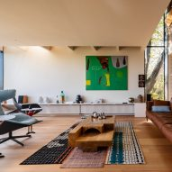 Living room in Kew Residence by John Wardle Architects in Melbourne, Australia