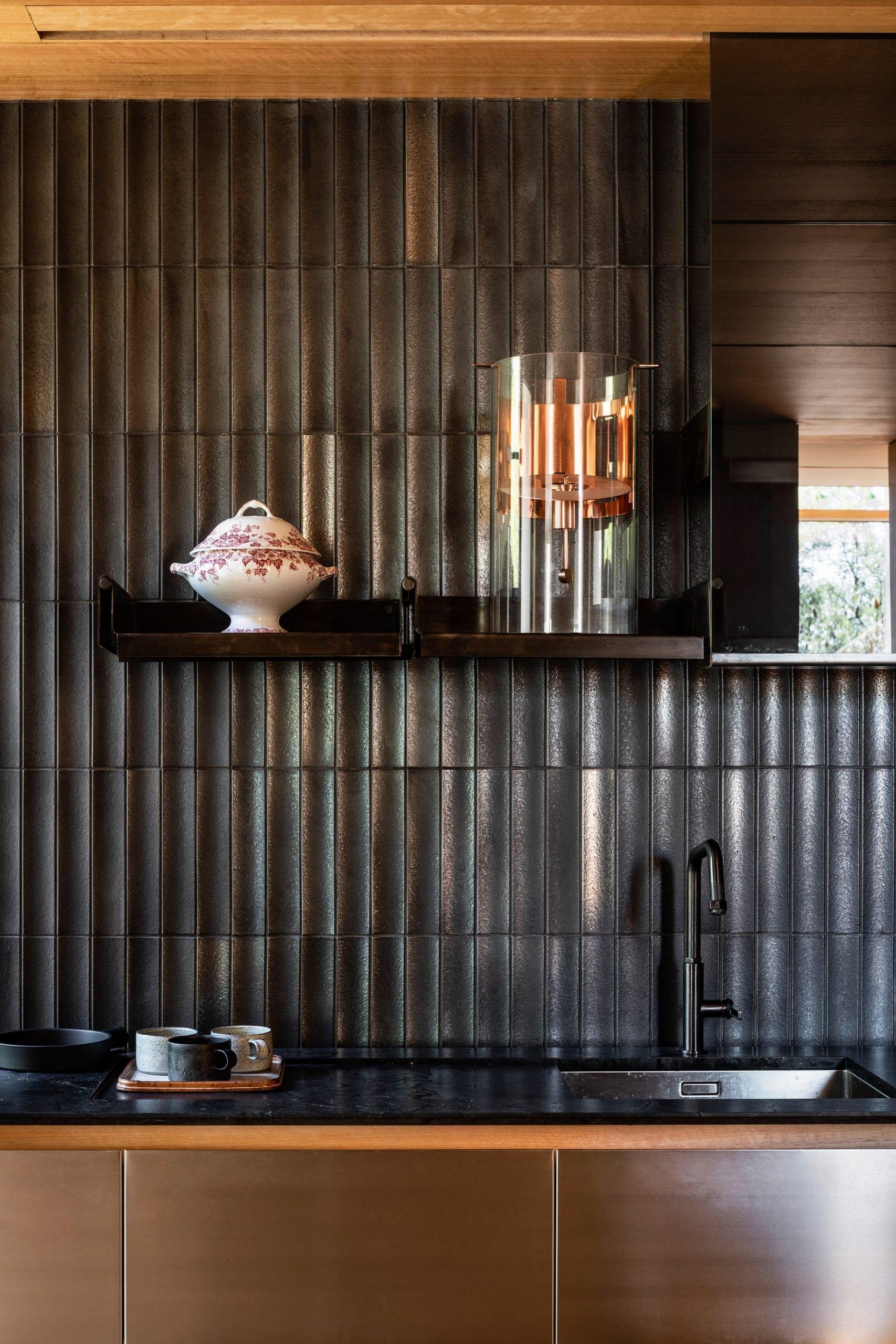 Kitchen splashback in Kew Residence by John Wardle Architects in Melbourne, Australia