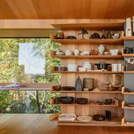 Ceramics displayed in Kew Residence by John Wardle Architects in Melbourne, Australia