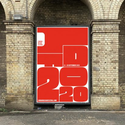 Identity for the London Design Festival 2020 designed by Pentagram