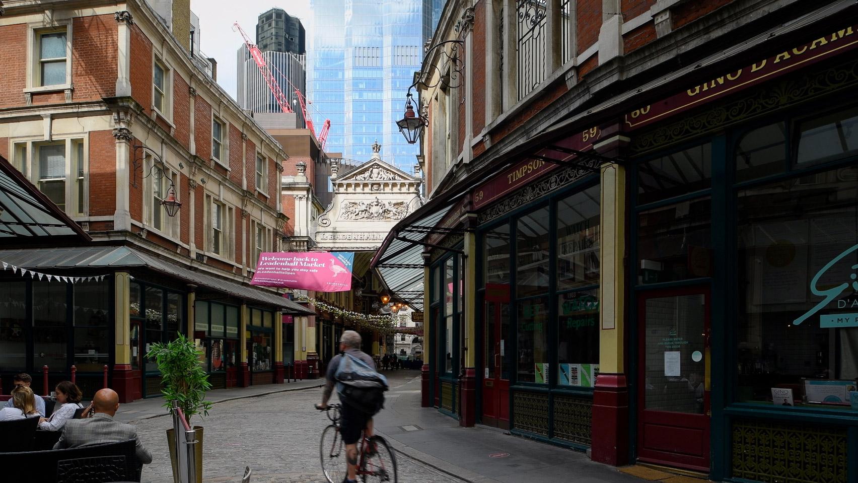 Leadenhall Market in London's financial district