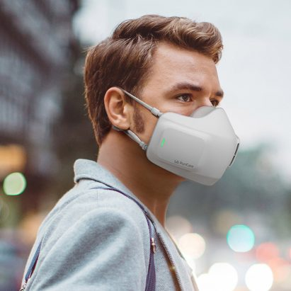 LG kits out face mask with battery-powered air purification system