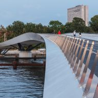 WilkinsonEyre and Urban Agency design curved Lille Langebro cycling bridge in Copenhagen