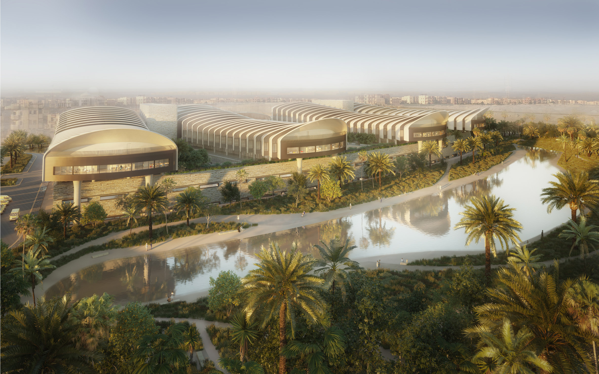 Magdi Yacoub Global Heart Centre Cairo by Foster + Partners render