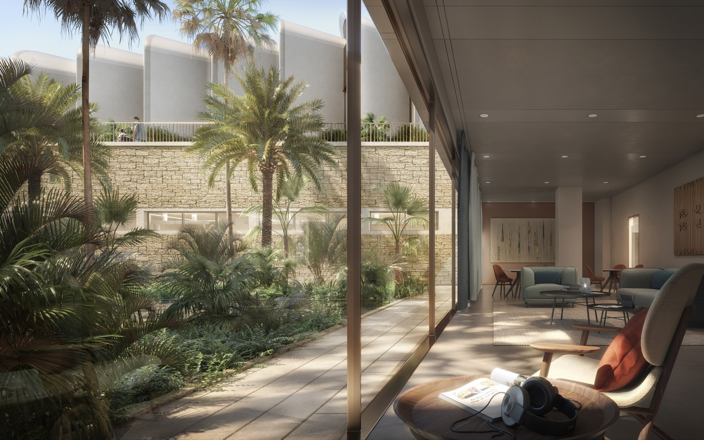 Interior render of Magdi Yacoub Global Heart Centre Cairo