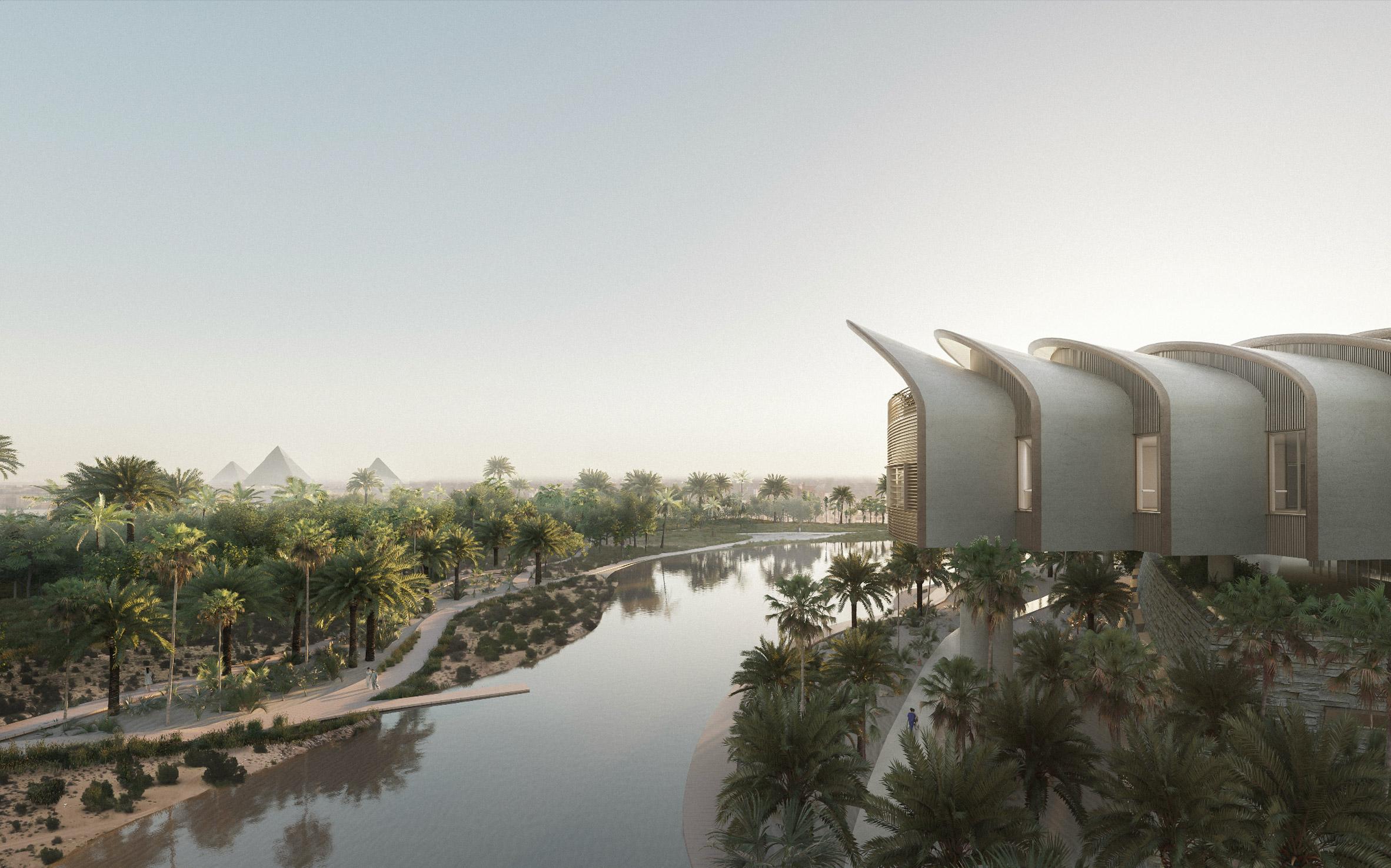Magdi Yacoub Global Heart Centre Cairo lake view