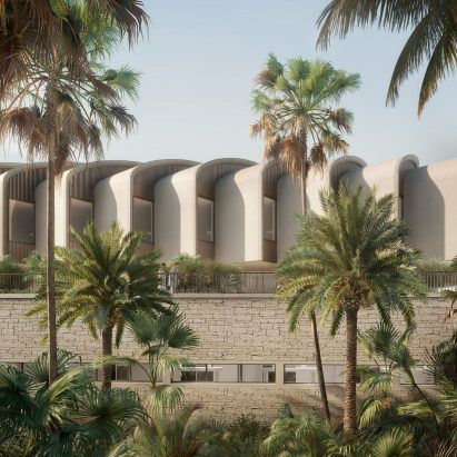 Exterior render of Magdi Yacoub Global Heart Centre Cairo