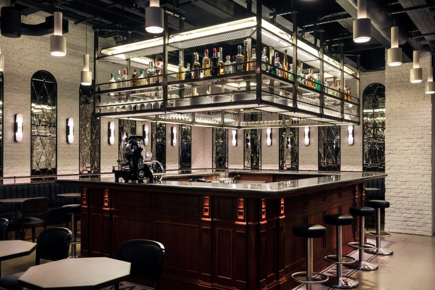 Frank's wine bar sits beneath Maison François restaurant designed by John Whelan
