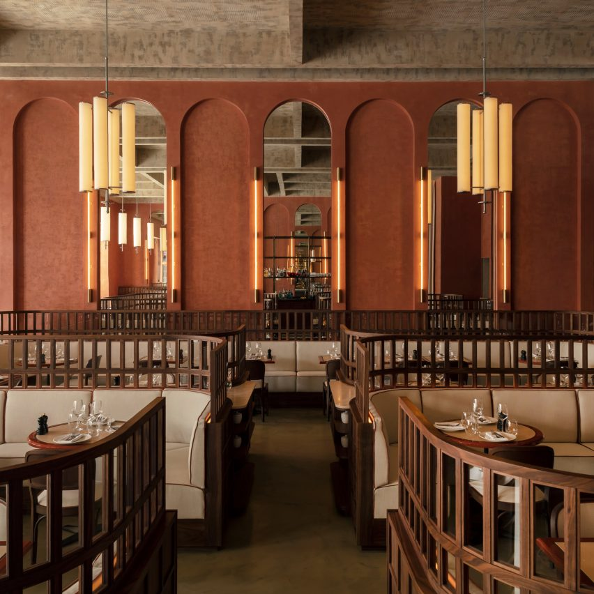 Maison François brasserie in London takes cues from Ricardo Bofill's architecture