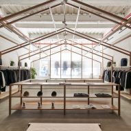New York clothing store Nanamica is designed like a Japanese house