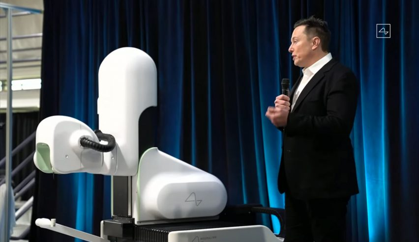 Elon Musk unveils new Neuralink brain implant design and robot that inserts it