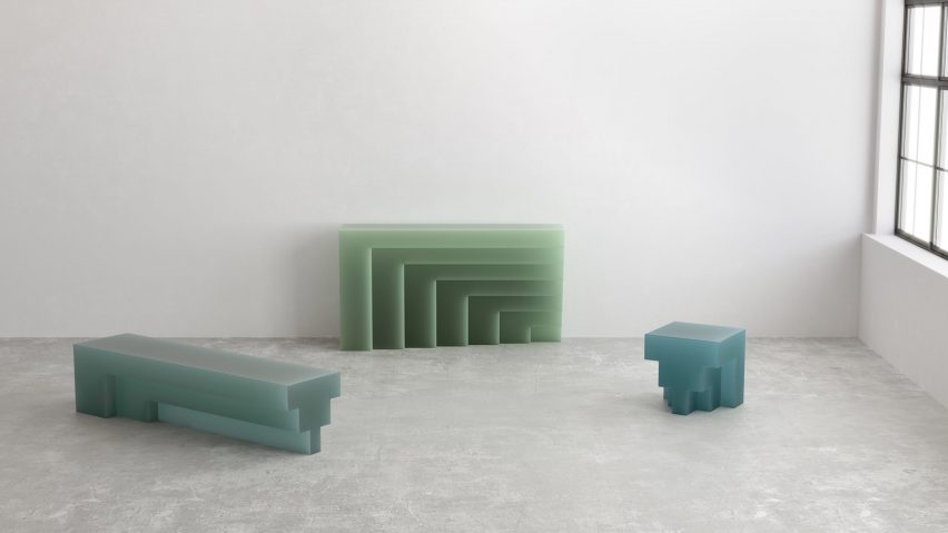 Niko Koronis designs G collection of furniture from resin