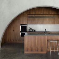 North Perth House by Nic Brunsdon features arched concrete panels