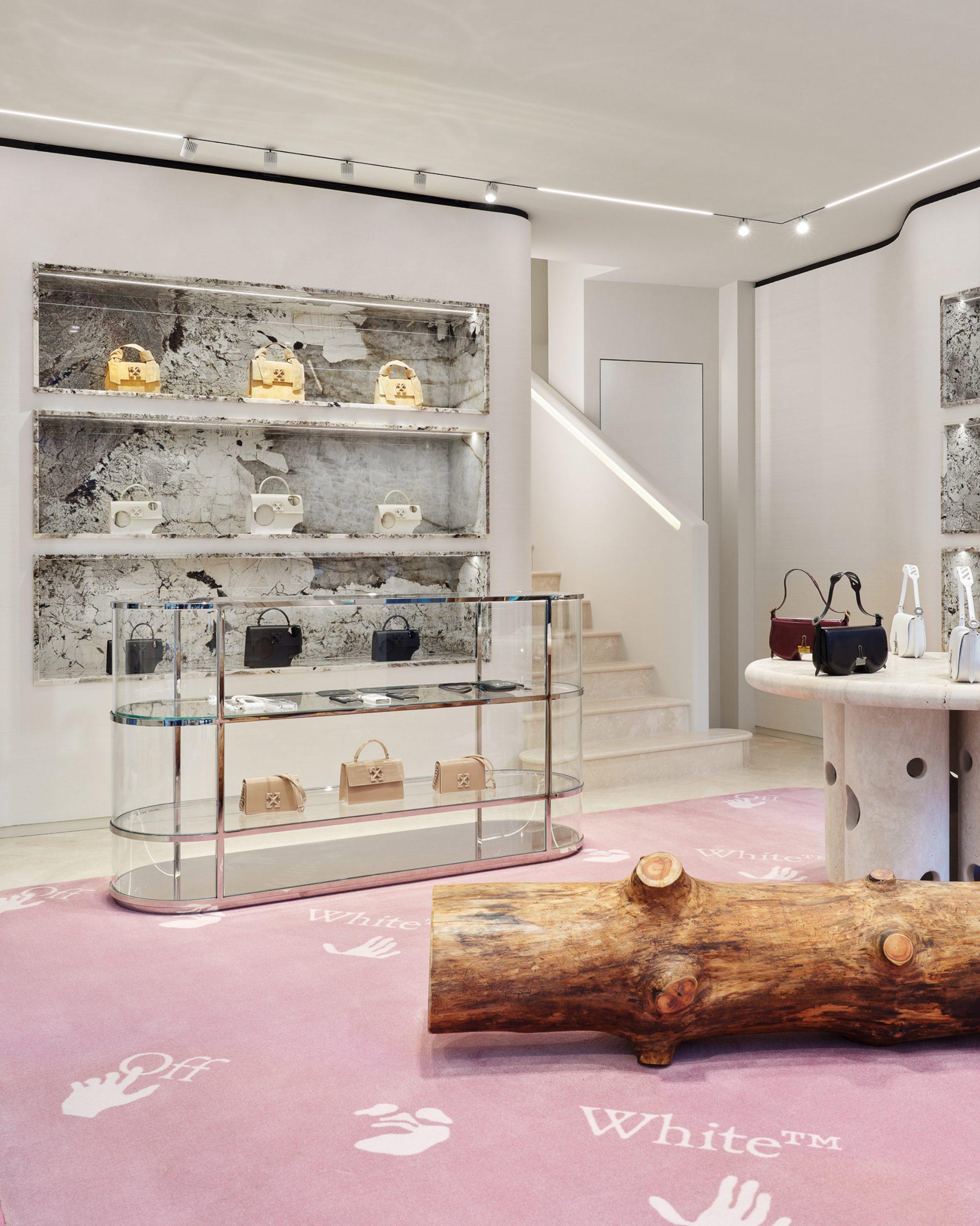 Off-White's Milan store on Via Verri