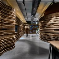 Walls of Walls of of Office in Cardboard by Studio VDGA in Pune, India