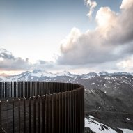 Otzi Peak 3251m viewing platform made of weathering steel by Network of Architecture