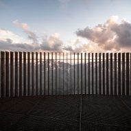 Weathering steel slats on Otzi Peak 3251m viewpoint by Netowrk of Architecture in South Tyrol